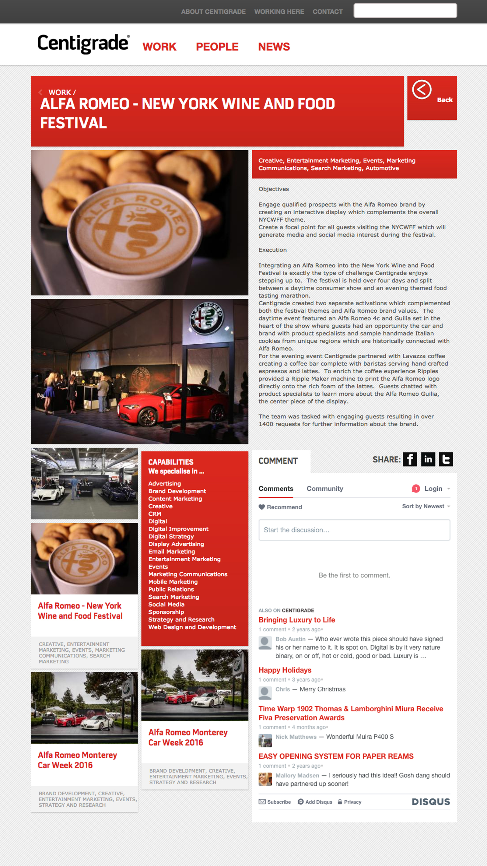 Centigrade - News Page. Drupal based web-portal with responsive design.
