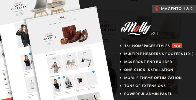 Molly - Elegant and Clean Multipurpose Magento 2 Theme