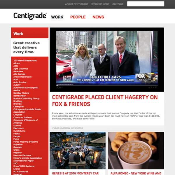 Centigrade - Work Section Page. Drupal based web-portal with responsive design.