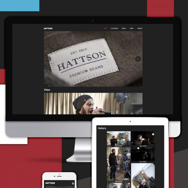 Hattson - Drupal based brand site. Show case of Drupal development. Brand site on Drupal with responsive design.