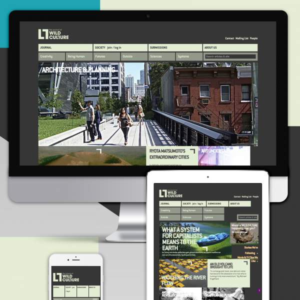Wildculture - Show case of online magazine on Drupal with responsive design.