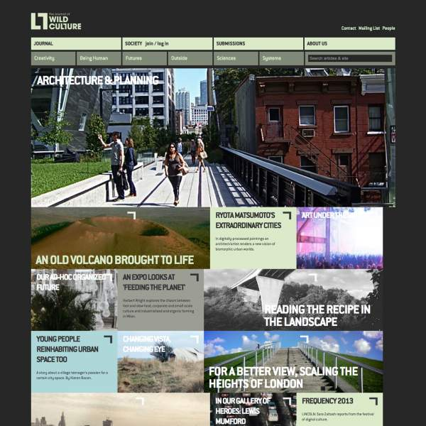 Wildculture - online magazine on Drupal with responsive design. Home page view.