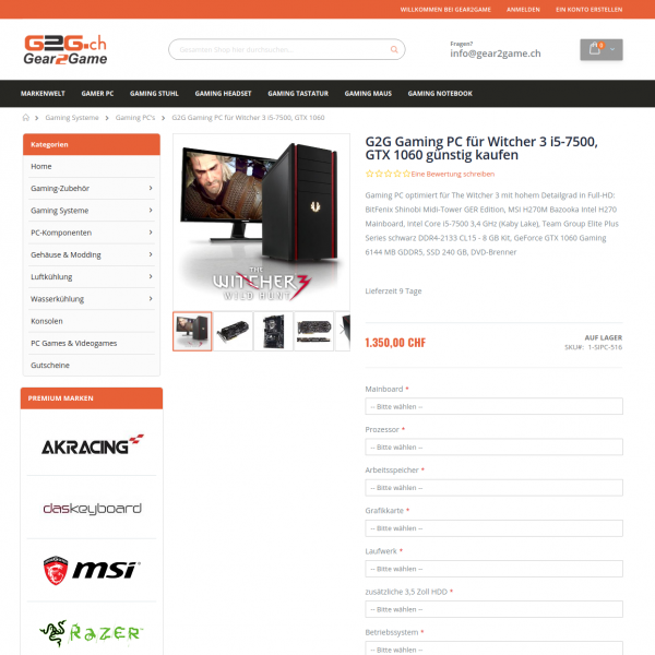 View of the product details page - Gear2Game - Magento 2 online shop for gamers.